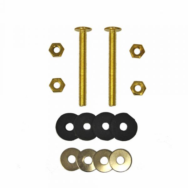 Toilet Bolt and Gasket Kit with Two 5/16 in. x 3 in. Bolt Sets