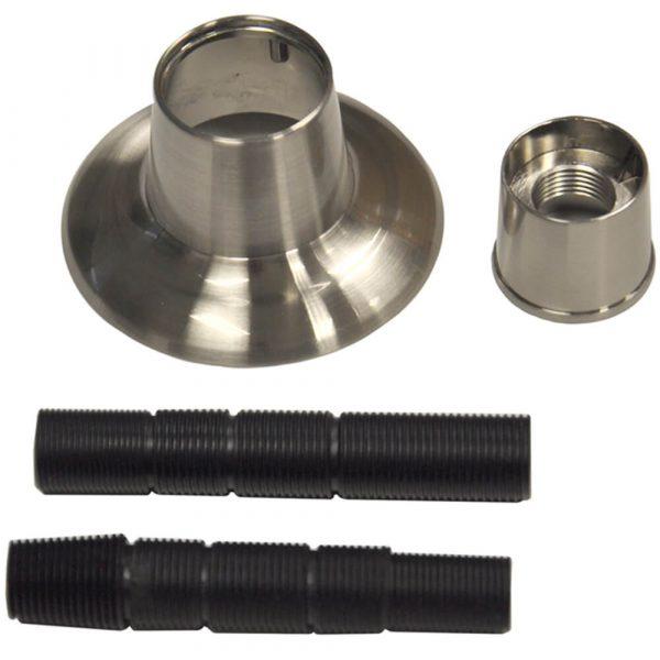 Universal Adjustable Tub/Shower Handle Flange in Brushed Nickel