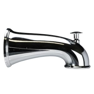 6 in. Decorative Tub Spout with Pull Up Diverter in Chrome