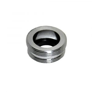 55/64 in.-27M x 13/16 in.-27M Chrome Small Male Aerator Adapter
