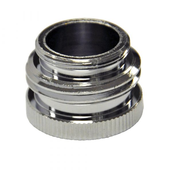 55/64 in.-27M / 3/4 in. GHTM x 55/64 in.-27F Chrome Garden Hose Aerator Adapter