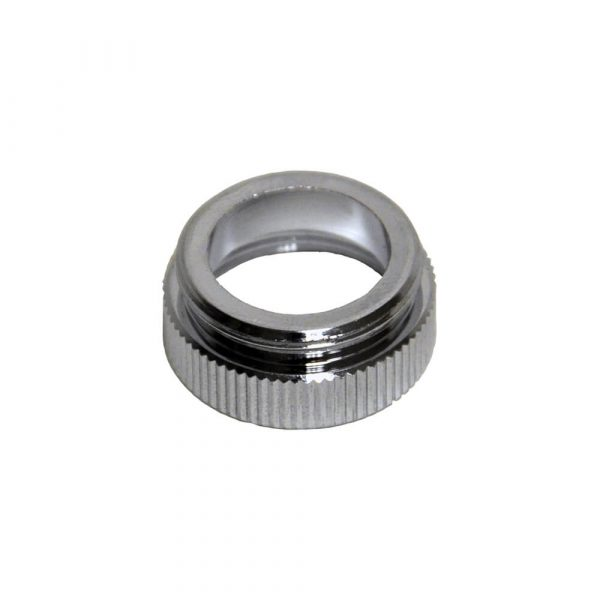55/64 in.-27M x 13/16 in.-24F Chrome Male/Female Aerator Adapter for Chicago Faucets