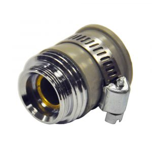 55/64 in.-27M or 3/4 in. GHTM Clamp-On Garden Hose Aerator Adapter