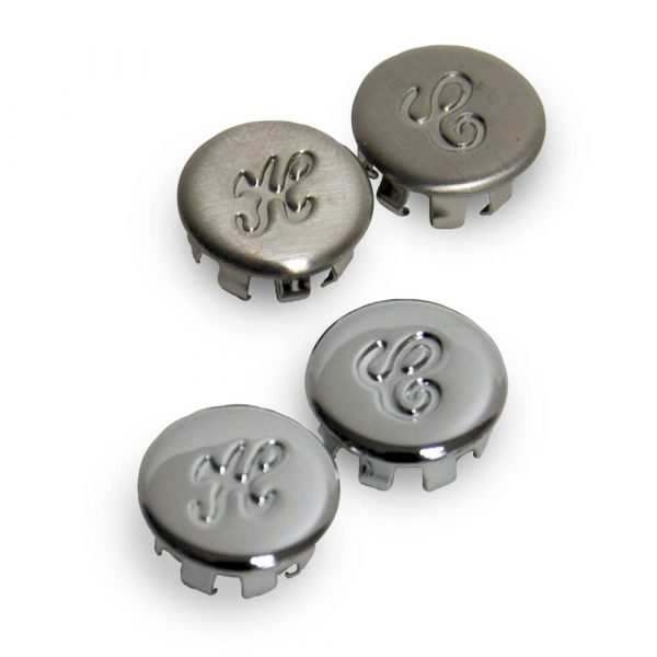 Faucet Handle Index Button Kit for Glacier Bay in Chrome & Brushed Nickel - 4 Pack