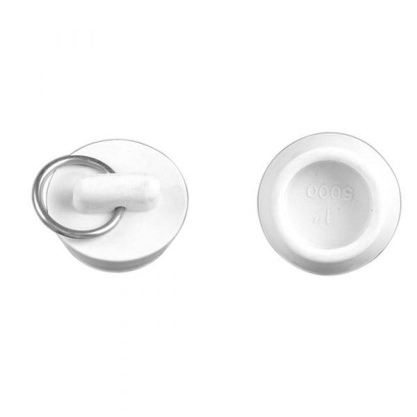 1 in. Rubber Drain Stopper in White (1 per Bag)