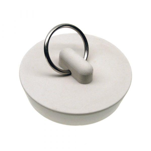 1-5/8 in. Rubber Drain Stopper in White (1 per Bag)