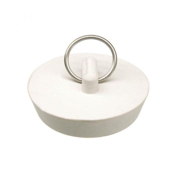1-3/4 in. Rubber Drain Stopper in White (1 per Bag)