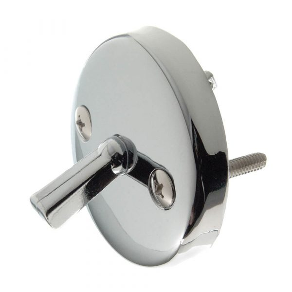 Overflow Plate with Trip Lever in Chrome (Case of 12)