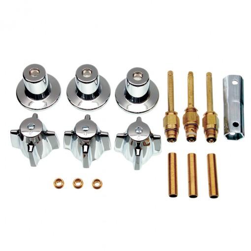 Tub Shower 3 Handle Remodeling Kit For Central Brass In