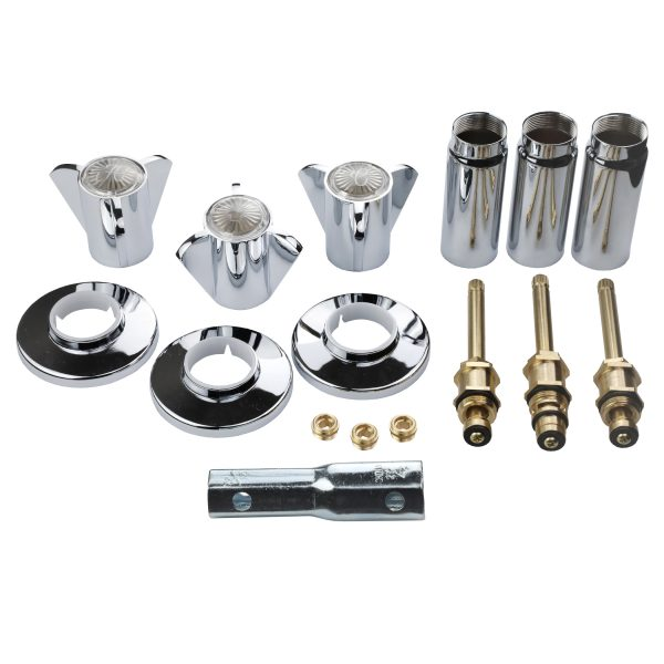 Tub/Shower 3-Handle Remodeling Trim Kit for Sayco in Chrome