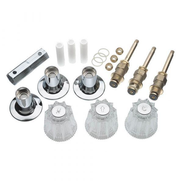Tub/Shower 3-Handle Remodeling Trim Kit for Price Pfister Windsor