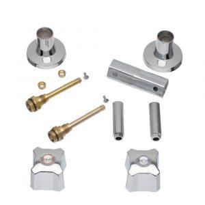 Tub/Shower 2-Handle Remodeling Kit for Kohler Trend in Chrome