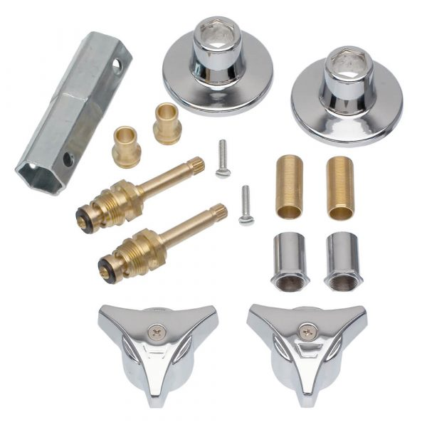 Tub/Shower 2-Handle Remodeling Trim Kit for Union Brass in Chrome
