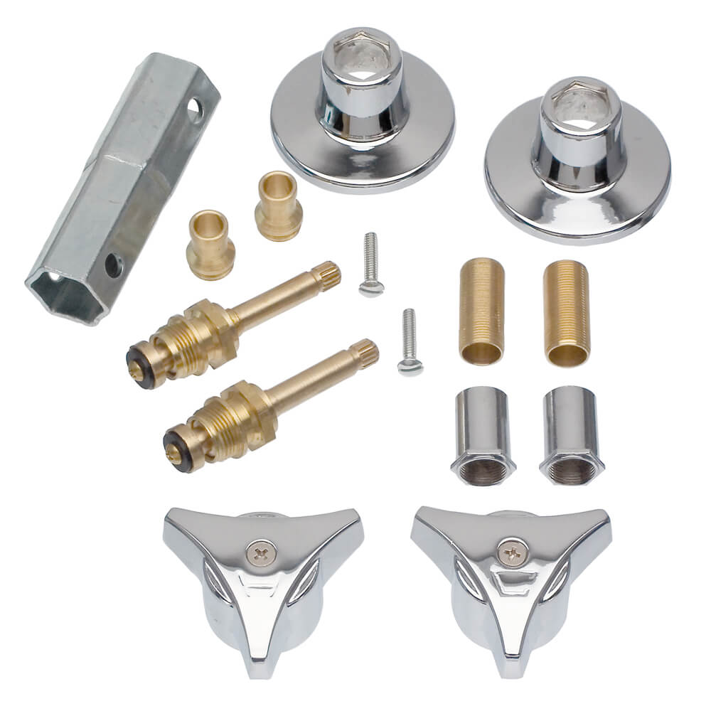 Tub Shower 3 Handle Remodeling Trim Kit For Union Brass In