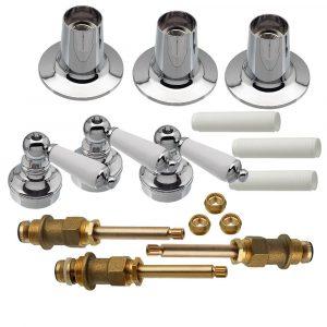 Tub/Shower 3-Handle Remodeling Trim Kit for Price Pfister