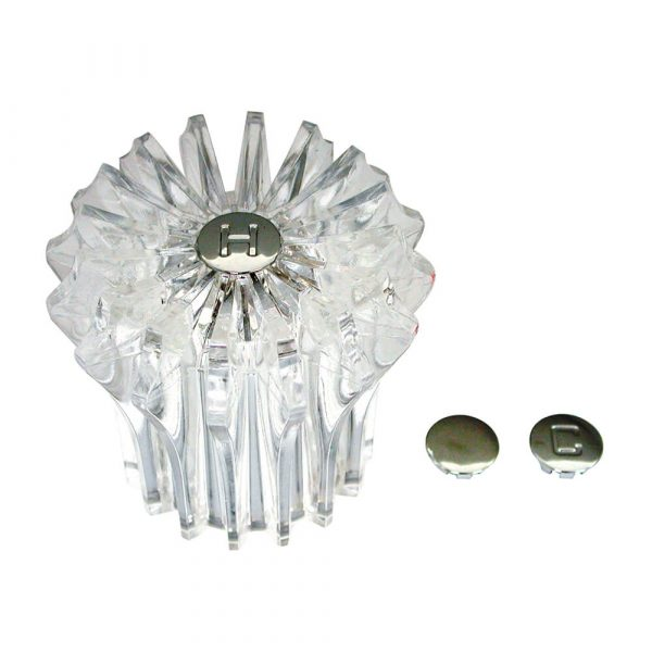 Faucet Handle for Price Pfister Marquis Tub/Shower in Clear Acrylic
