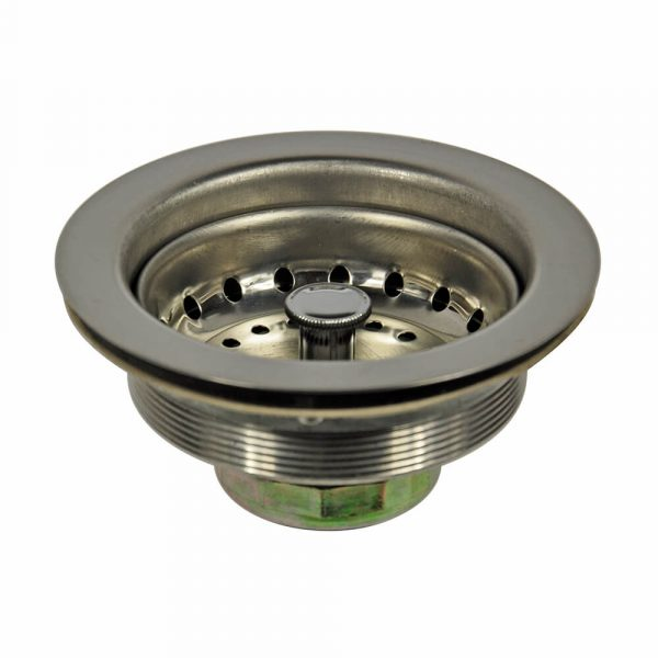 3-1/2 in. Metal Basket Strainer Assembly in Stainless Steel (Case of 10)