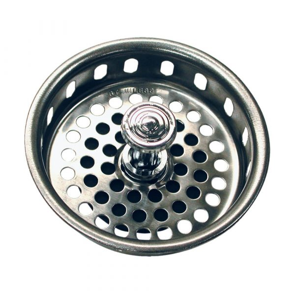 3-3/4 in. Basket Strainer with Drop Center Post in Chrome (Case of 10)