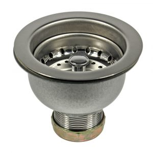 3-1/2 in. Basket Strainer Assembly in Stainless Steel (Case of 10)