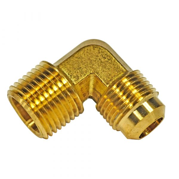 1/2 O.D. Flare X 1/2 MIP Pipe Elbow Fitting