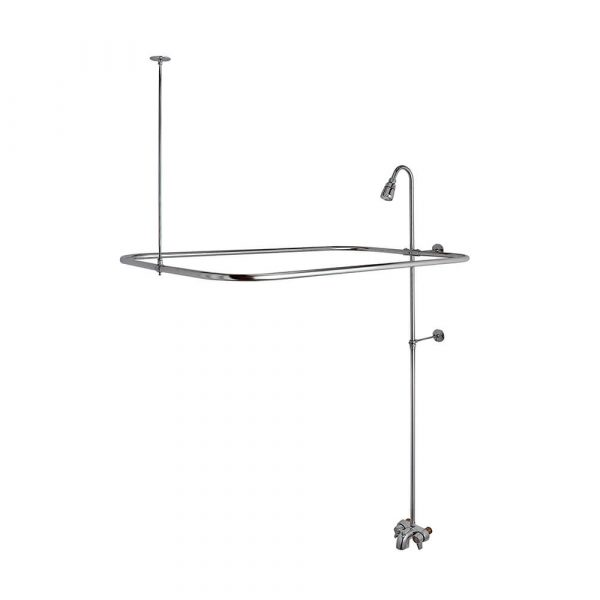 Add-A-Shower Kit for Clawfoot Tub in Chrome