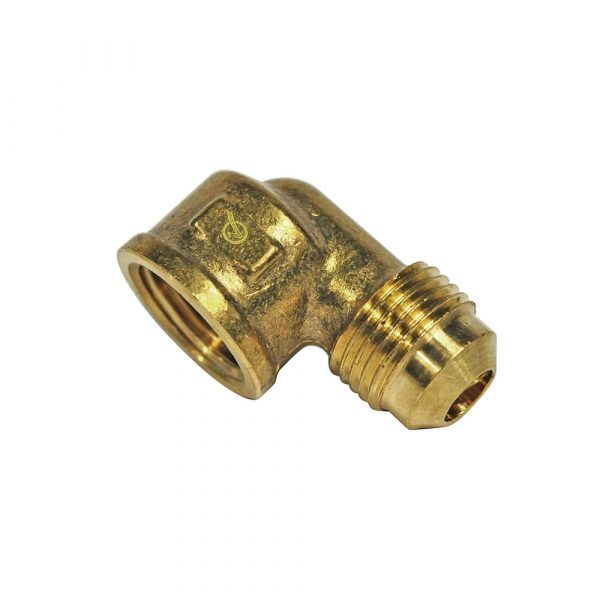 3/8 O.D. Flare X 3/8 FIP Pipe Elbow Fitting