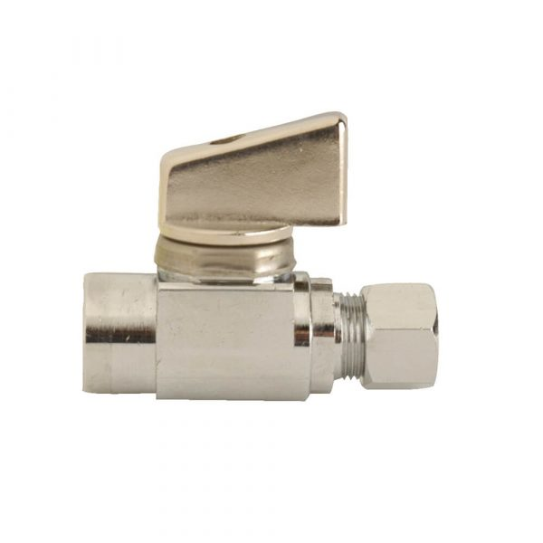 5/8 in. O.D. Outlet x 1/4 in. Comp. Inlet Straight Stop