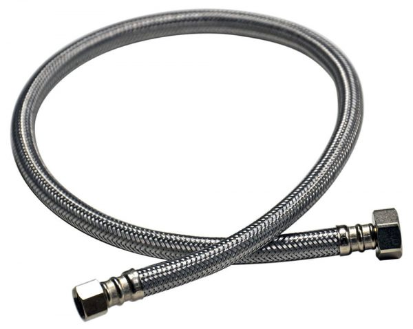 3/8 in. Comp. x 1/2 in. FIP. x 30 in. LGTH Stainless Steel Faucet Supply Line Hose