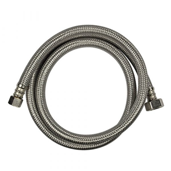 3/8 in. Comp. x 1/2 in. FIP. x 48 in. LGTH Stainless Steel Faucet Supply Line Hose