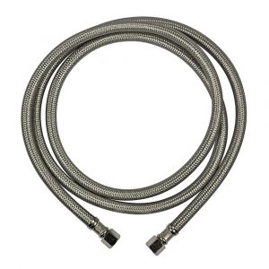 1/4 in. Comp. x 1/4 in. Comp. x 60 in. LGTH Stainless Steel Ice Maker Supply Line Hose