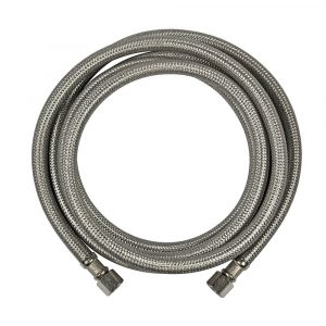 1/4 in. Comp. x 1/4 in. Comp. x 84 in. LGTH Stainless Steel Ice Maker Supply Line Hose
