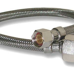 3/8 in. Comp. x 1/2 in. FIP. x 16 in. LGTH Stainless Steel Faucet Supply Line Hose