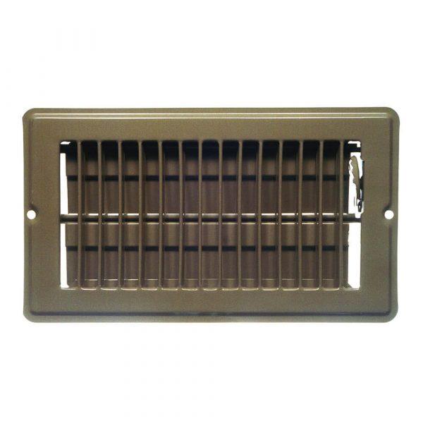 4 in. x 8 in. Steel Floor Register with 7/8 in. Drop in Brown