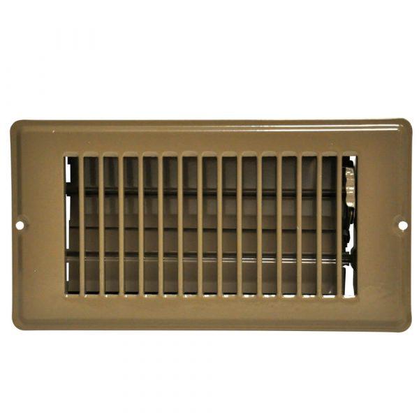 4 in. x 8 in. Steel Floor Register with 1-5/16 in. Drop in Brown