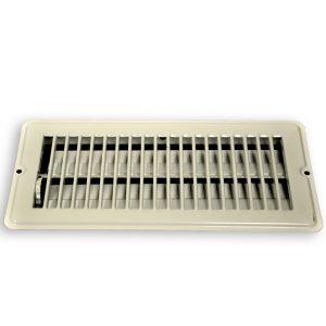 4 in. x 10 in. Steel Floor Register with 7/8 in. Drop in White