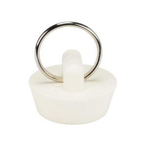 1 in. Rubber Drain Stopper in White (1 per Card)