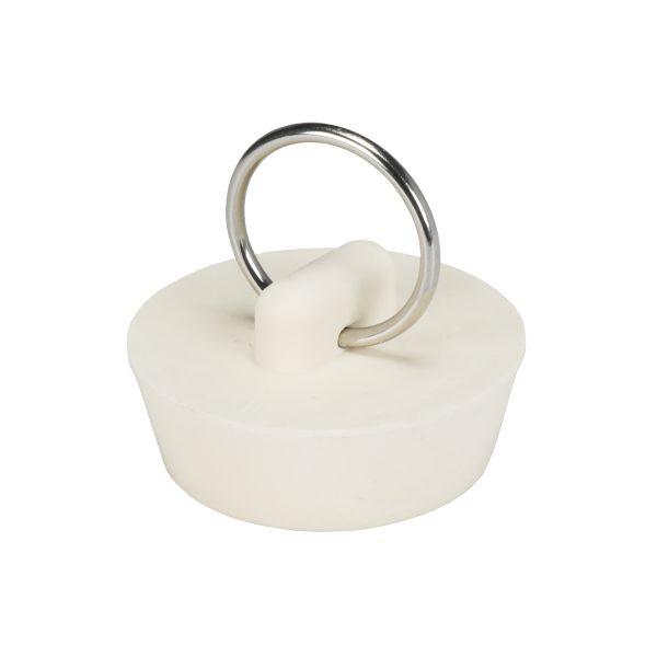 1-1/4 in. Rubber Drain Stopper in White (1 per Card)