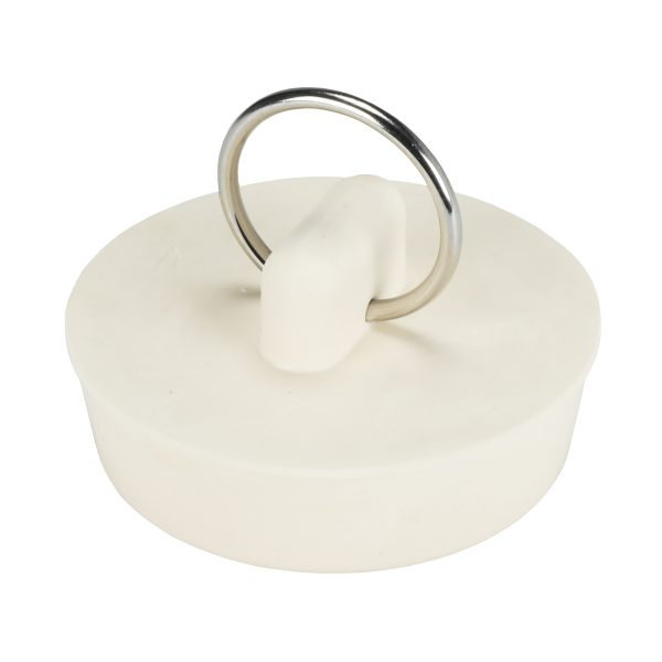 1-1/2 in. Rubber Drain Stopper in White (1 per Card)