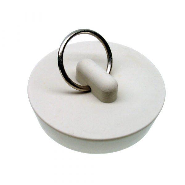 1-5/8 in. Rubber Drain Stopper in White (1 per Card)