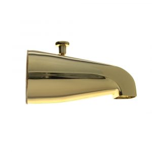 Universal Tub Spout w/ Diverter in Polished Brass