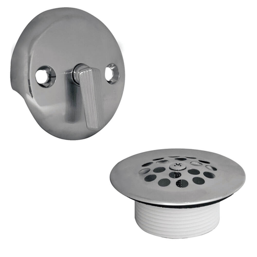 trip lever tub drain trim kit with overflow in chrome this danco drain