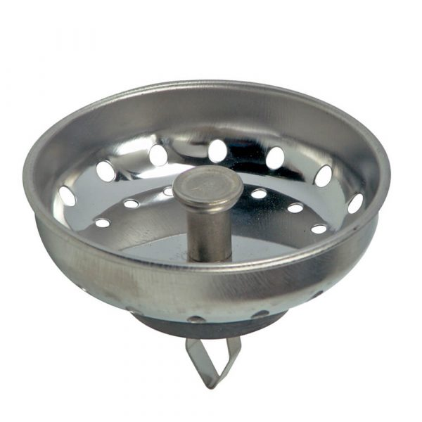 3-1/4 in. Basket Strainer with Arrow Clip in Chrome