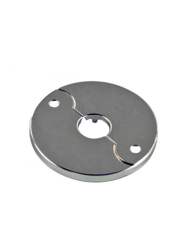 3/8 in. IPS Floor & Ceiling Plate for Ice Maker in Chrome