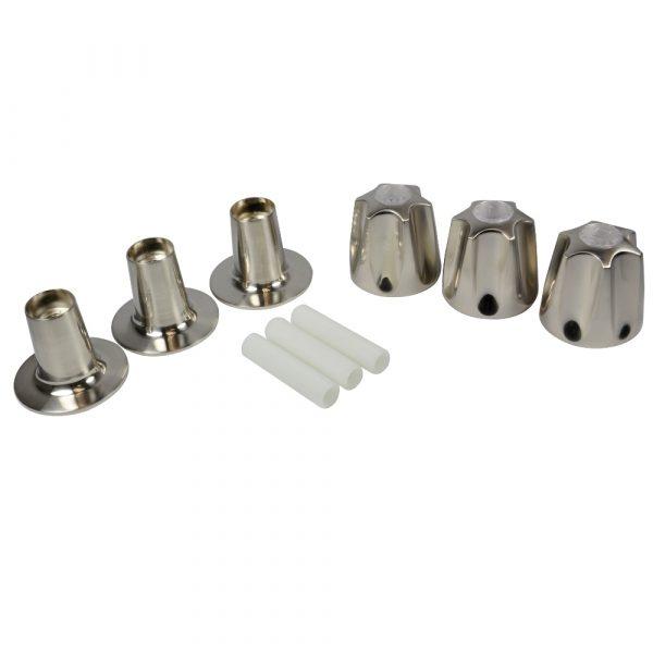Tub/Shower 3-Handle Remodeling Trim Kit for Price Pfister Verve in Brushed Nickel