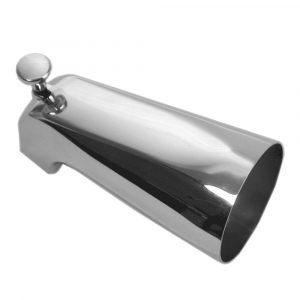 5 in.  Bathroom Tub Spout w/ Front Diverter in Chrome
