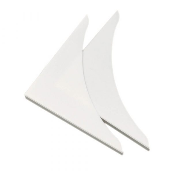 7 in. Shower Guard in White