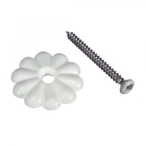 Mobile  Home/RV Ceiling/Wall Rosettes in White
