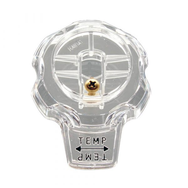 Temp. Control Knob Faucet Handle for Mixet Faucets in Clear