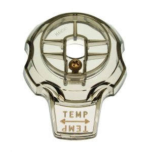Temp. Control Knob Faucet Handle for Mixet Faucets in Smoke