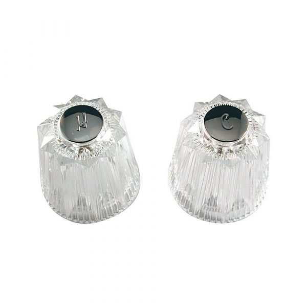 Faucet Handles for Price Pfister Contessa/Windsor in Clear Acrylic